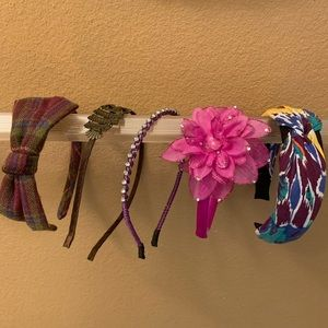 (5) Purple & Brown Collection Claire's Headbands